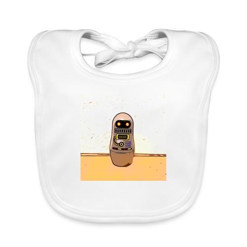 Lustiges Scifi Robot T-Shirt retro Geschenkidee - Baby Bio-Lätzchen
