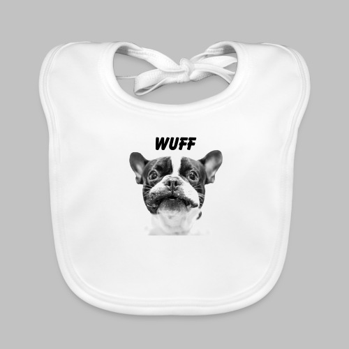 Wuff - Hundeblick - Hundemotiv Hundekopf - Baby Bio-Lätzchen