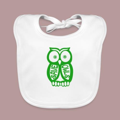 Save owls - Bavoir bio Bébé
