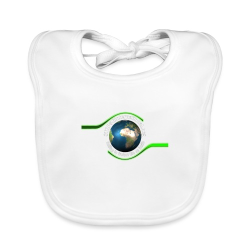 LOGO white font - Baby Organic Bib