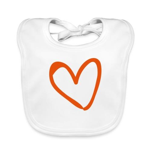 Heart Outline Pixellamb - Baby Bio-Lätzchen