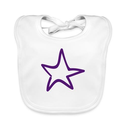 Star Outline Pixellamb - Baby Bio-Lätzchen