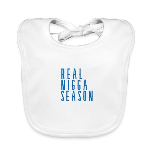real nigga season blauw - Bio-slabbetje voor baby's