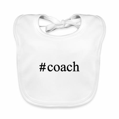 Black Coach Hashtag - Baby Bio-Lätzchen