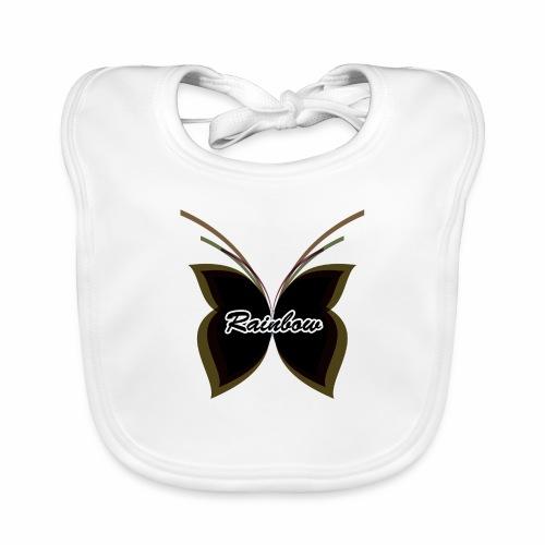 Black Butterfly Rainbow - Baby Bio-Lätzchen