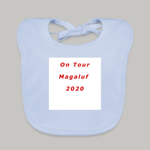 On Tour In Magaluf, 2020 - Printed T Shirt - Baby Organic Bib