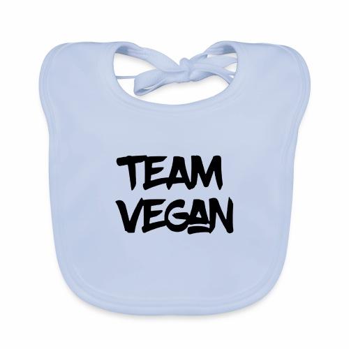 Black Design Team Vegan - Baby Bio-Lätzchen