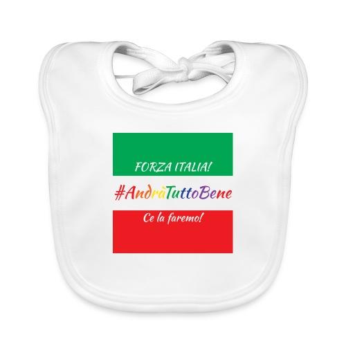 Andrà Tutto Bene su Bandiera Italiana - Bavaglino ecologico per neonato