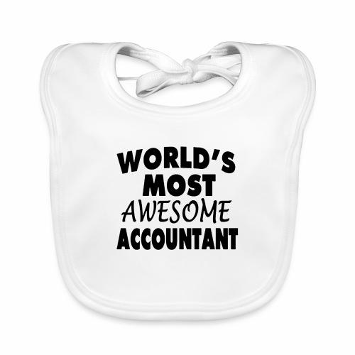 Black Design World s Most Awesome Accountant - Baby Bio-Lätzchen