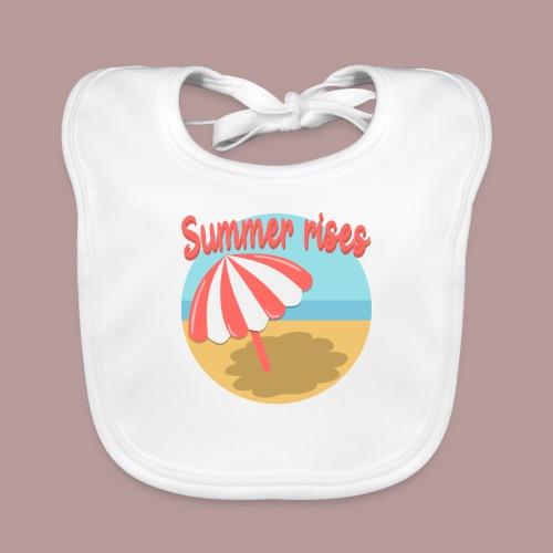 Summer rises parasol sur une plage / mer ciel été - Bavoir bio Bébé
