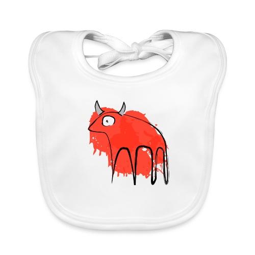 tribal red cow - Bavaglino ecologico per neonato