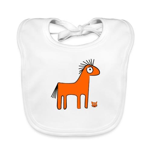 orange horse - Bavaglino ecologico per neonato