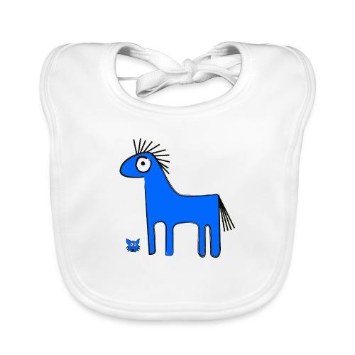 blue horse - Bavaglino ecologico per neonato