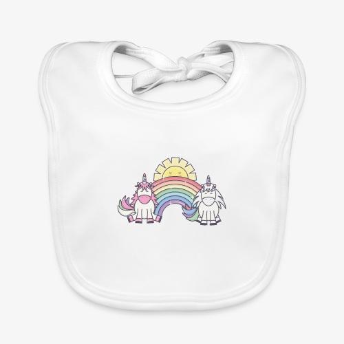 Unicornio III (Autor: stockgiu) - Babero de algodón orgánico para bebés