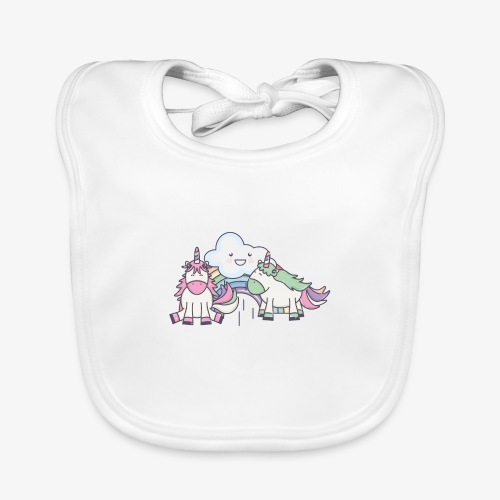 Unicornio IV (Autor: stockgiu) - Babero de algodón orgánico para bebés