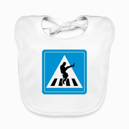 Silly walk zebrapad verkeersbord Zierikzee Zeeland - Bio-slabbetje voor baby's
