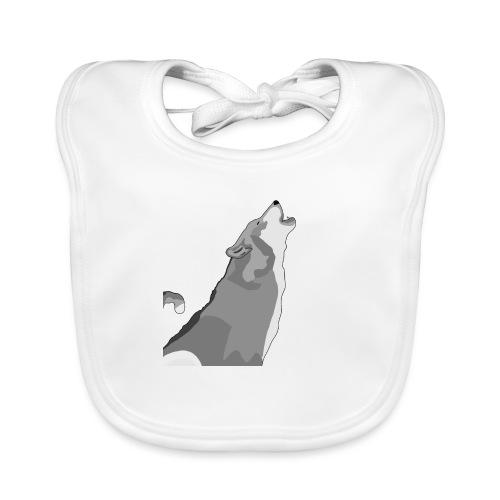 Wolf heulend - Baby Bio-Lätzchen