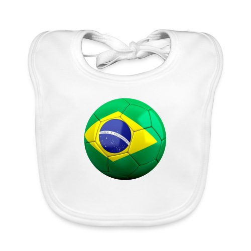 Bola de futebol brasil - Organic Baby Bibs