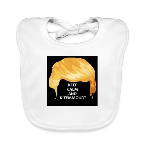 Keep Calm And Kitemmuort Capelli Trump - Bavaglino ecologico per neonato