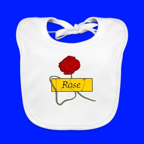 Rose - Ekologisk babyhaklapp