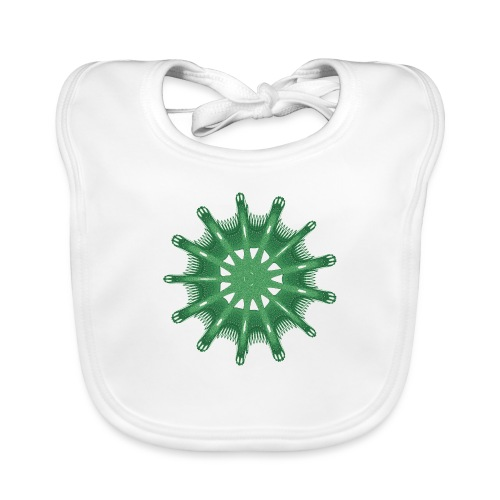 green steering wheel Green starfish 9376alg - Organic Baby Bibs