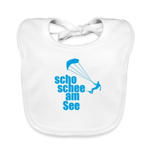 scho schee am See Surfer 01 kite surfer - Baby Bio-Lätzchen