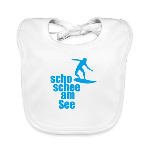 scho schee am See Surfer 04 - Baby Bio-Lätzchen