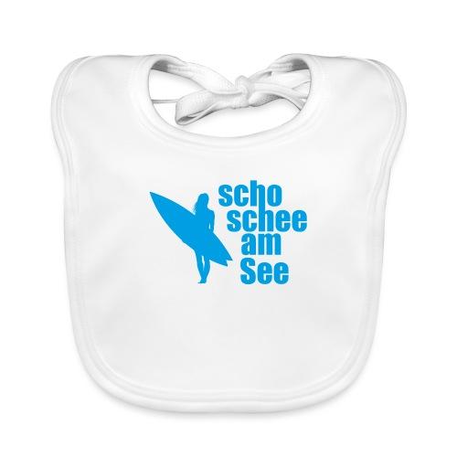 scho schee am See Surferin 03 - Baby Bio-Lätzchen