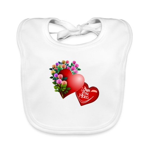 Mother's Day Love You Mom - Organic Baby Bibs