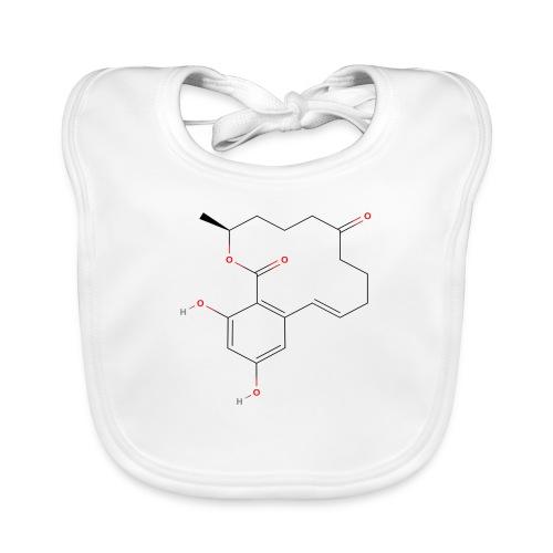 Zearalenone Molecule - Colored Structural Formula - Hagesmække af økologisk bomuld