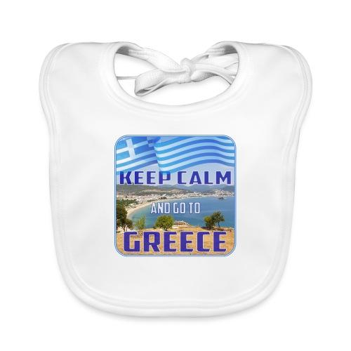 KEEP CALM and go to GREECE - Griechenland - Ellada - Baby Bio-Lätzchen