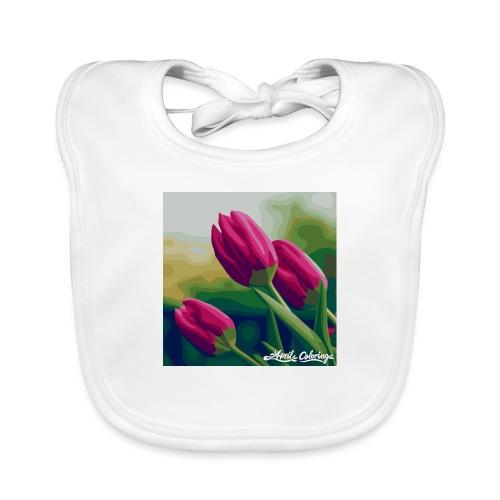 Blomster - Hagesmække af økologisk bomuld