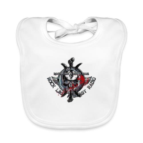 Blood Skull Logo - Ekologisk babyhaklapp