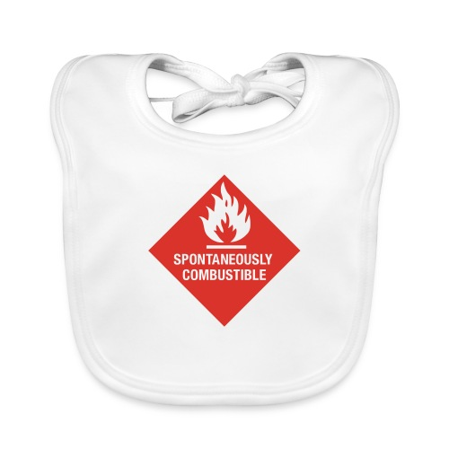 Spontaneously Combustible - Baby Organic Bib