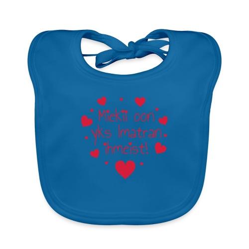 Miekii oon yks Imatran Ihmeist lasten t-paita - Vauvan luomuruokalappu