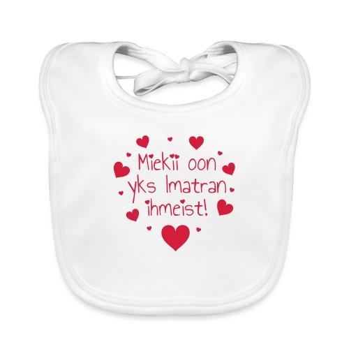 Miekii oon yks Imatran Ihmeist! Naisten t-paita - Vauvan ruokalappu