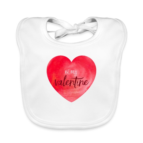Cœur st.valentin - Bavoir bio Bébé