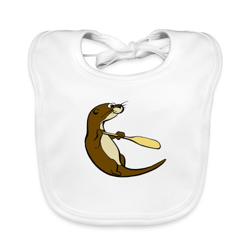 Classic Song of the Paddle otter logo - Organic Baby Bibs