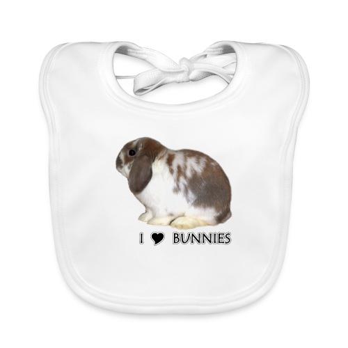 I Love Bunnies Luppis - Vauvan luomuruokalappu