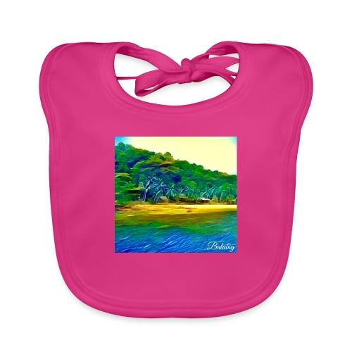 Tropical beach - Bavaglino ecologico per neonato