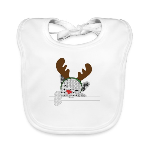 ChristmasDogColour - Bio-slabbetje voor baby's
