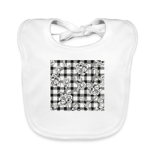 CHECK pattern throw pillow - Baby Organic Bib