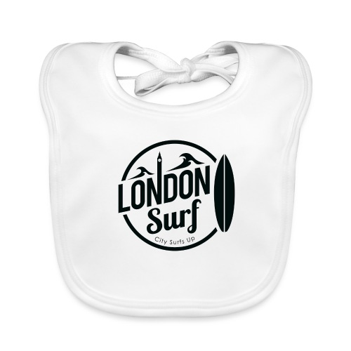 London Surf - Black - Baby Organic Bib