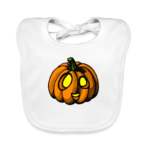 Pumpkin Halloween scribblesirii - Baby Bio-Lätzchen