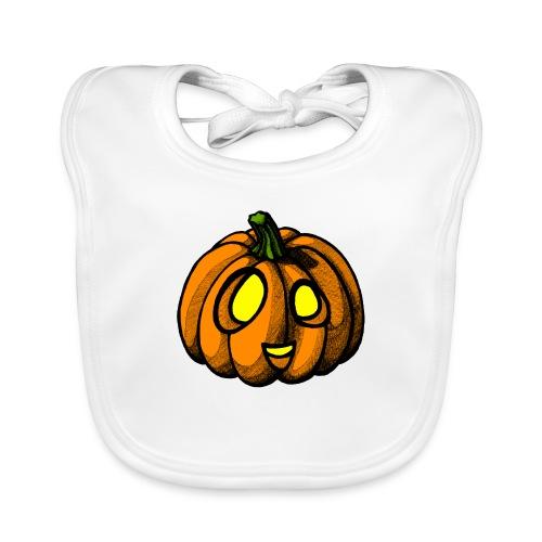 Pumpkin Halloween scribblesirii - Baby økologisk hagesmæk