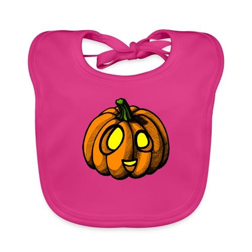 Pumpkin Halloween scribblesirii - Vauvan luomuruokalappu