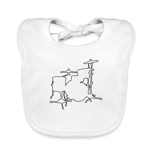 Drums Silhouette - Baby Organic Bib