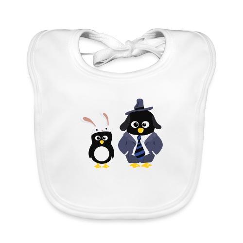 Pingouins and Max - Bavoir bio Bébé