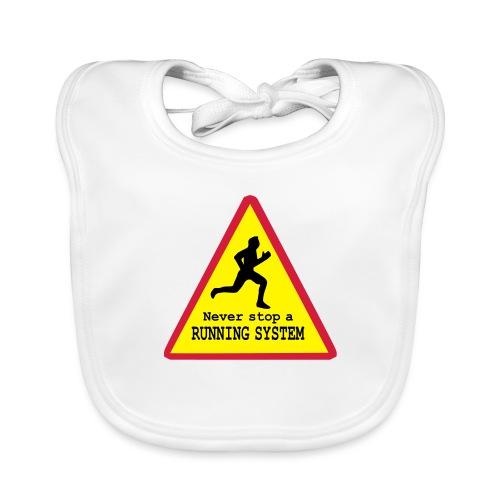 Never stop running - Baby Bio-Lätzchen