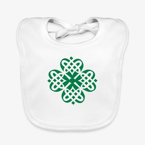 Shamrock Celtic knot decoration patjila - Baby Organic Bib